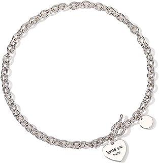 "Necklace Jewelry Women's Heart Pendant Necklace Heart Charm Necklace Cable Chain Necklace (Length: 17"") Pendant Necklace"