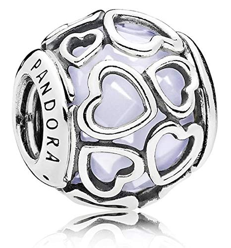 Pandora Encased in Love Silver Charm with Opalescent White Crystal 792036NOW