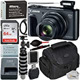 Canon PowerShot SX730 HS Digital Camera with Essential Bundle - Includes: SanDisk Ultra 64GB Memory Card, Extended Life Replacement Battery (NB-13L), Flexible Gripster Tripod, Carrying Case & More