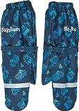 Playshoes Jungen Matschhandschuh mit Fleece-Futter Baustelle Handschuhe, Blau (Marine 11), 2 (Herstellergröße: 2)