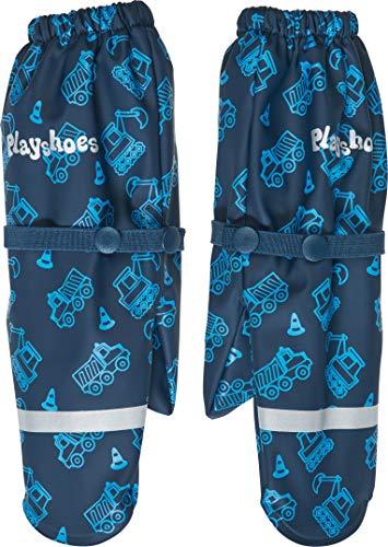 Playshoes Jungen Matschhandschuh mit Fleece-Futter Baustelle Handschuhe, Blau (Marine 11), 1 (Herstellergröße: 1)