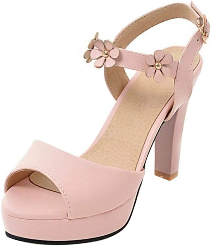 Unm Women's Peep Toe Platform Sandals
