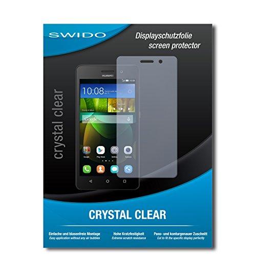 SWIDO Bildschirmschutz für Huawei G Play Mini [4 Stück] Kristall-Klar, Hoher Festigkeitgrad, Schutz vor Öl, Staub & Kratzer/Schutzfolie, Bildschirmschutzfolie, Panzerglas Folie