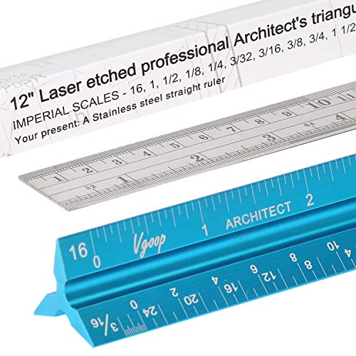 Architectural Scale Ruler, Engineer Drafting, Triangular - American...