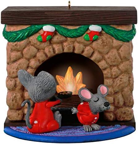Hallmark Keepsake Christmas Ornament 2020 Merry Mice Fireplace Musical With Light product image