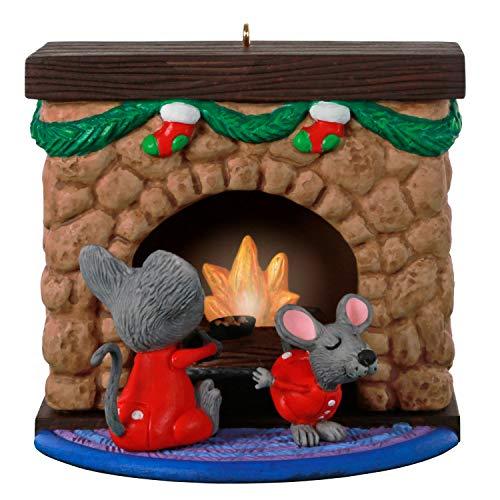 Hallmark Keepsake Christmas Ornament 2020, Merry Mice Fireplace, Musical With Light