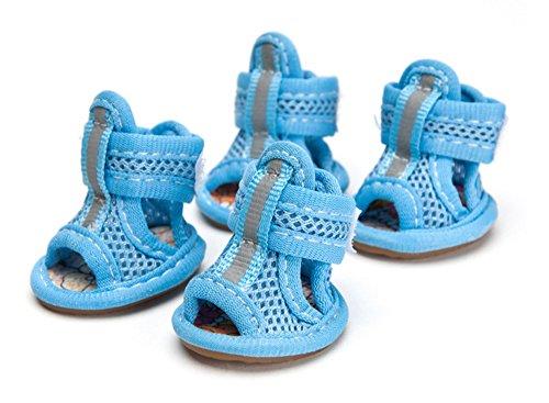 Haustier Hund Anti-Rutsch-Schuhe Breathable Schutz Stiefel Schuhe Breathable Mesh Sandalen