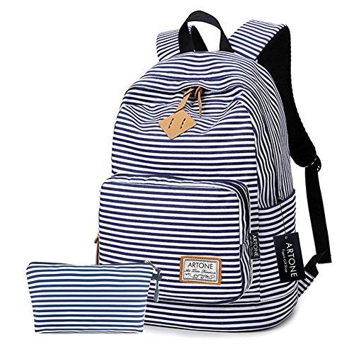 Artone Banda Grande Capacità Casual Zaino 14' Il Computer Portatile Scuola Daypack Con Astuccio Set Of 2