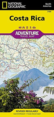 National Geographic Adventure Map Costa Rica [Lingua Inglese]: Travel Maps International Adventure Map