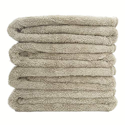 Polyte Quick Dry Lint Free Microfiber Bath Towel 57 x 30 in Set of 4 Beige