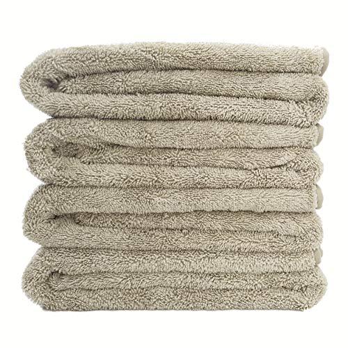 Polyte Quick Dry Lint Free Microfiber Bath Towel, 57 x 30 in, Set of 4 (Beige)