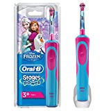 Oral-B Stages Power Kids Cepillo de Dientes Elctrico con los Personajes de Frozen, Azul, Rojo