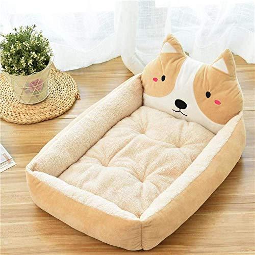 HAOSHUAI Haustier-Bett, Karikatur-Gelb-Haustier-Bett-Soft-Zwinger Winter warm Tierbedarf Haus for Katzen-Matten-Bett for Small Medium Large Dog verdicken Lounger Sofa, XL (Size : XL)