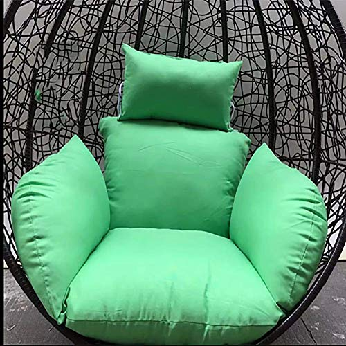 GYWY Hanging Egg Hammock Chair Cushions, Without Stand Swing seat Cushion Thick Nest Back with Pillow Comfortable Soft 125x60cm(49x24inch),B