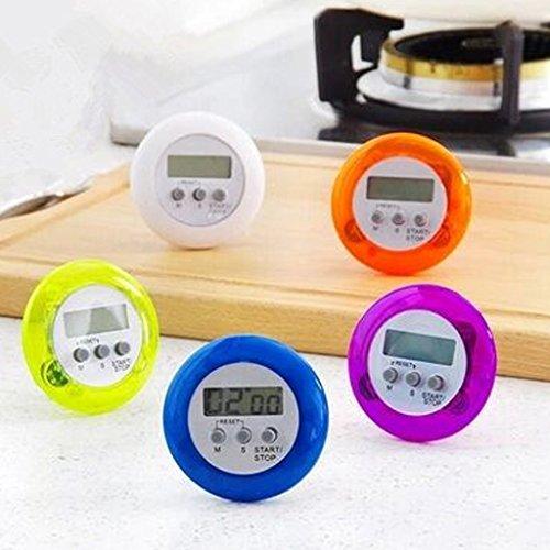 Hergon Digitaler magnetischer Timer für Küche, rückwärtiger Ständer, Countdown-Wecker, LCD-Display, zuverlässige Kochzeit