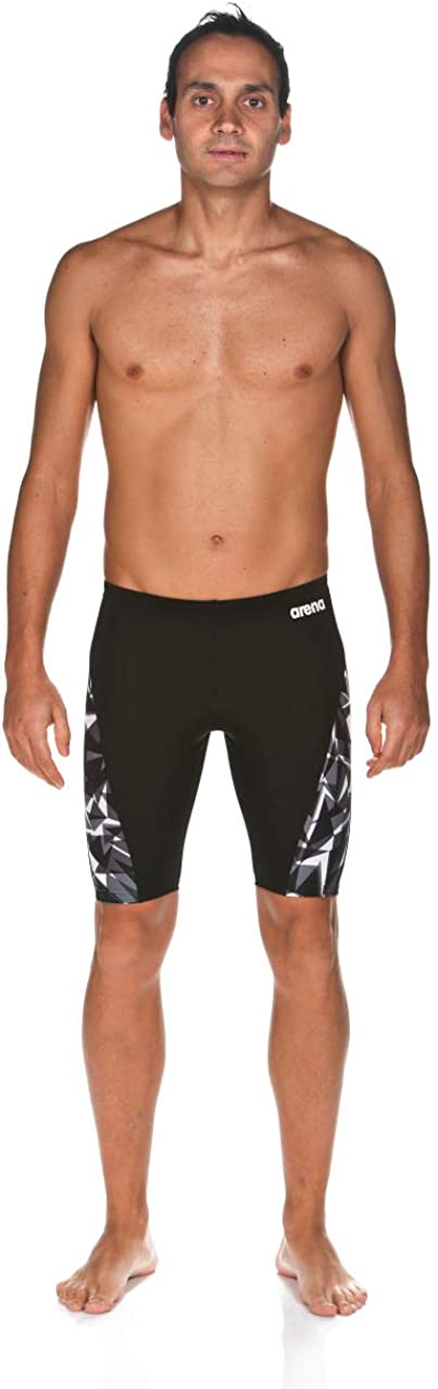 Arena Mens Previous Season Team Color Print Jammer Athletic Training Swimsuit Jammer
