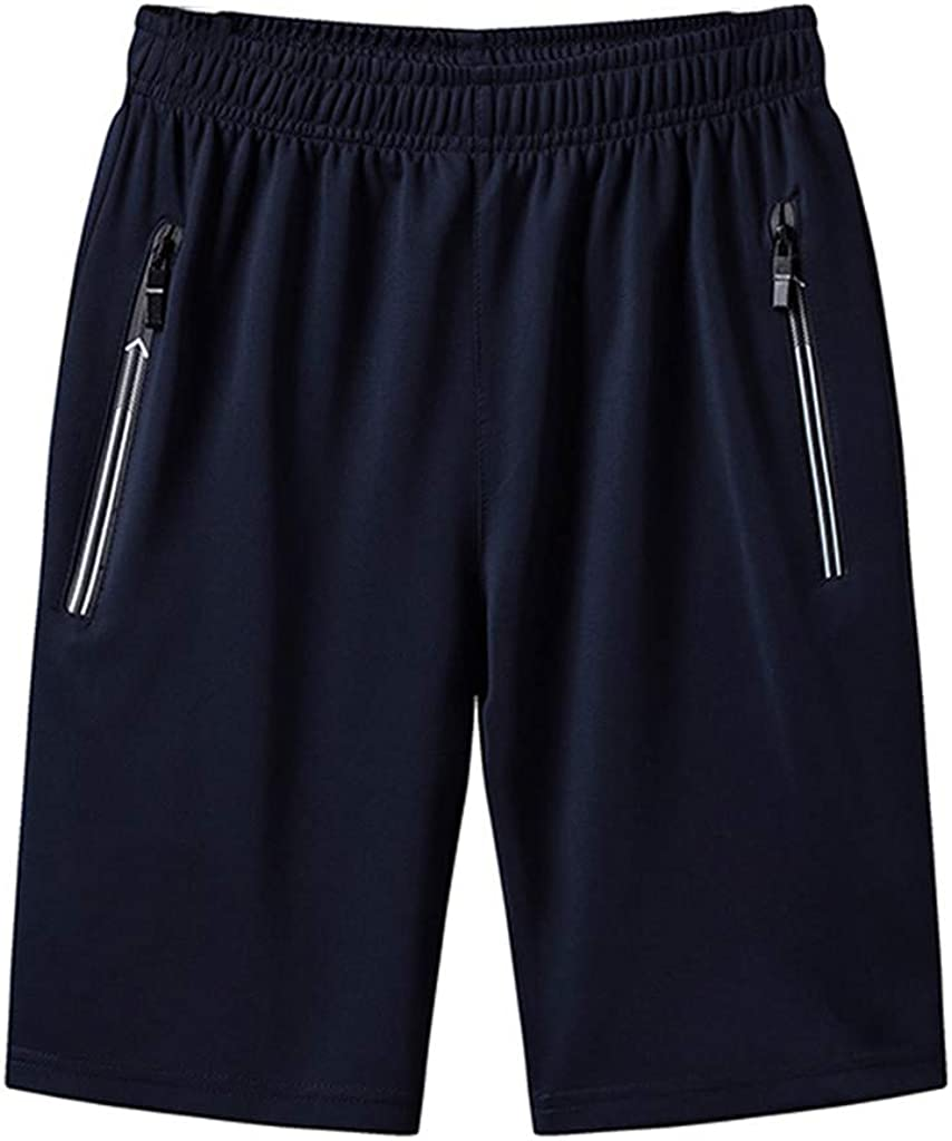 MOOKO Mens Big and Tall Athletic Shorts Quick Dry Summer Drawstring Casual Short Sports Workout Running Shorts(M-5XL)