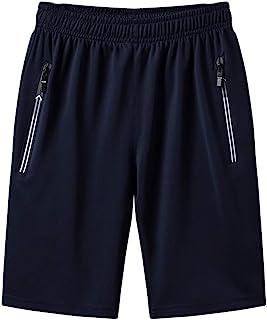 Sunenjoy Shorts Homme Séchage Rapide Bermudas Sport Pantalon Courte de Course avec Poches Zippées Léger Respirant pour Jog...