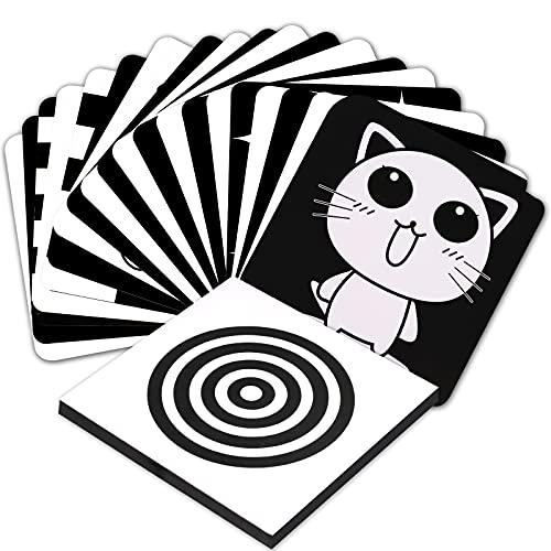 Baby Visual Stimulus Cards Hohe Kontrast Baby Visual Cards für Kleinkinder über 3 Monate Schwarz Weiß Karten Baby für Neugeborene Kinder Visuelle Stimulation Kleinkind Spielzeug Geschenk (20 Stücke)