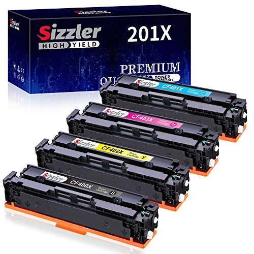 Sizzler 201X Toner Kompatibel für HP 201X 201A CF400X CF400A Toner für HP Color Laserjet Pro MFP-M277DW MFP-M277N MFP-M274N M252DW M252N MFP-M277 MFP-M274 M277 M274 M252 Tonerkartusche