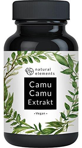Camu-Camu Kapseln - Natürliches Vitamin C - Vergleichssieger 2020* - 180 vegane Kapseln für 6 Monate - Laborgeprüft, ohne unerwünschte Zusätze und hergestellt in Deutschland