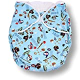 Rearz - Bulky Fitted Nighttime Cloth Diaper (Blue - Sports) (Large/X-Large)