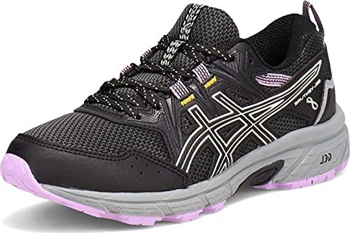 ASICS Women's Gel-Venture 8 Running Shoe, 8, Black/Ivory