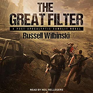 The Great Filter: A Post-Apocalyptic Gamelit Novel     Great Filter Series, Book 1              By:                                                                                                                                 Russell Wilbinski                               Narrated by:                                                                                                                                 Neil Hellegers                      Length: 8 hrs and 15 mins     60 ratings     Overall 4.4