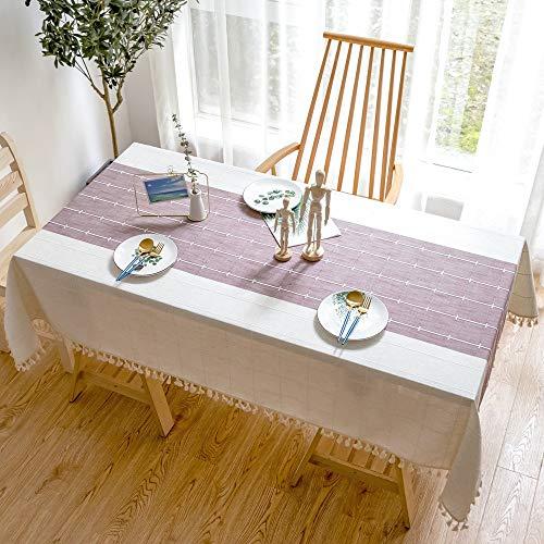 XXDD Mantel nórdico para el hogar, Cubierta de Mesa Rectangular, balcón, decoración de Mesa de Centro, Mantel Impermeable A6 140x180cm