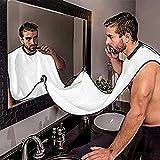 GUOQY Grembiule Barba – Grembiule per Rasatura 119 x 78 cm – Kit Rasatura Barba - Bavaglino Barba – Il miglior Modo per radersi - Set Regalo Uomo – Idee Regalo Uomo