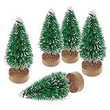 YWCTing ILOVEDIY 10Stück Weihnachtsbaum Künstlich Klein Weihnachtsdeko 4.5cm 6.5cm 12.5cm (Grün, Höhe 4.5cm-10Stück)