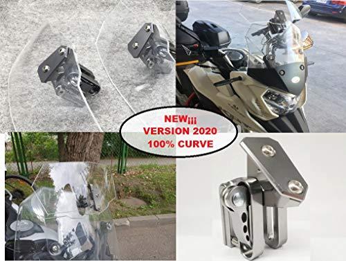 Deflector de Aire Universal. Curvo y Regulable. para Cúpula ((Moto y Scooter)). NO DISTORSIONA LA VISIÓN