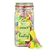 Sauer macht lustig - saure Süßigkeiten-Mischung im Glas, zum Verschenken oder Selbernaschen