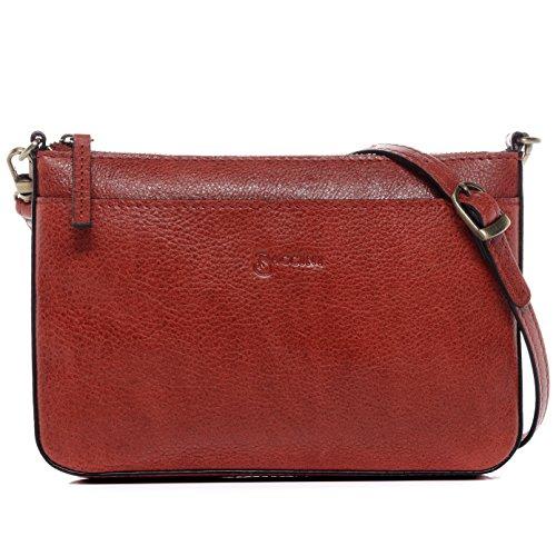 BACCINI® borsa a spalla vera pelle LORENA piccolo sacchetto Borsa da donna...