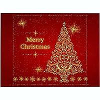 プレースマット新しい6個のランチョンマットクリスマスプレースマットテーブルマットキッチンテーブルマット滑り止め汚れに強いキッチンテーブルプレースマットお手入れが簡単,E