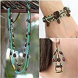 Guatemalan Coffee Bean Necklace Bracelet and Earrings Handmade Jewelry Set for Women Bohemian Jewelry - I'nah Aurea