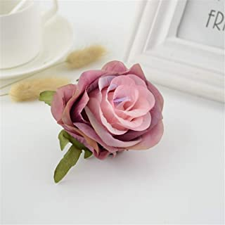 SHHOMELL 1Pcs Artificial Flower Roses Head for Home Wedding Car Decoration New Year Christmas Decorative Flower Bride Bouquet Accessories Sleeve Rose