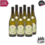 Vin de Savoie Jacquère'Le Minéral' Blanc 2018 - Maison Perret - Vin AOC Blanc de Savoie - Bugey - Cépage Jacquère - Lot de 6x75cl