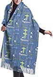 Bufanda de la manta del abrigo del mantón, bufanda de las mujeres Bufanda clásica de la tela escocesa de la borla del resucitado Bufanda caliente del invierno