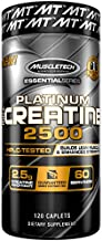MuscleTech Essential Series 100% Creatine 2500 Supplement, 120 Count