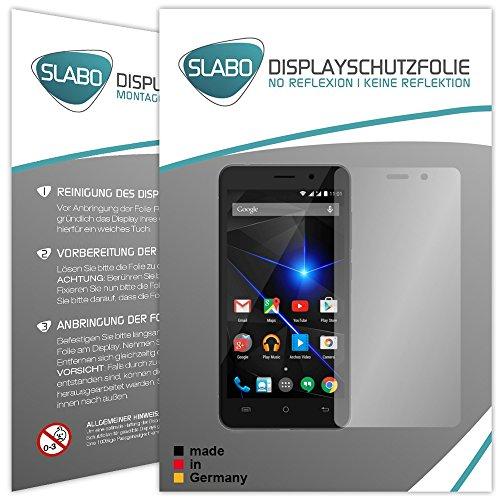 Slabo 4 x Displayschutzfolie für Archos 50 Oxygen Plus Displayfolie Schutzfolie Folie Zubehör No Reflexion MATT