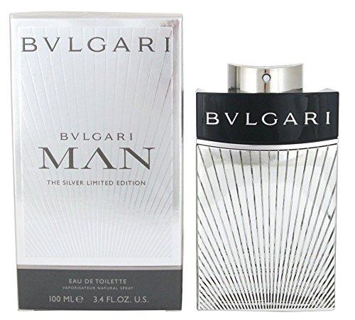 Bulgari Man Eau de Toilette en vaporisateur Silver 100 ml, 1er Pack (1 x 100 ml)