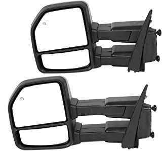 2 Pcs Power Heated Towing Mirrors with LED Signal/Auxiliary/Clearance/Puddle Lights-22 Pin PlugFL3Z-17682-AE Fit for 2015 2016 2017 2018 Ford F150