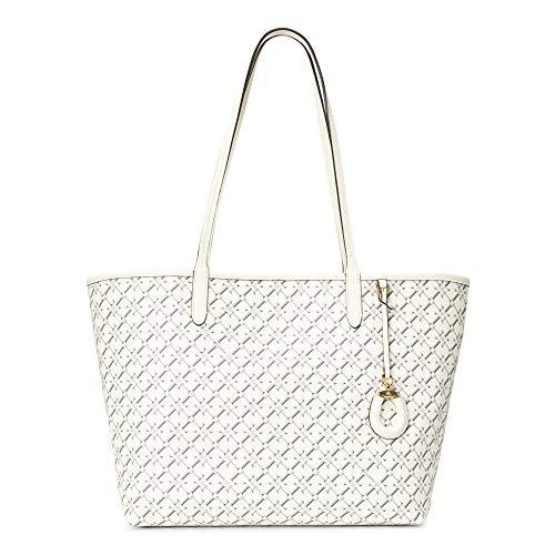 LAUREN RALPH LAUREN COLLINS 32 Shoppers femmes Ecru Tote tassen/Boodschappentassen