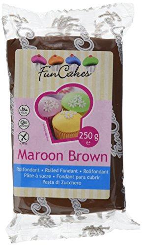 FunCakes Fondant -Maroon braun, 4er Pack (4 x 250 g)