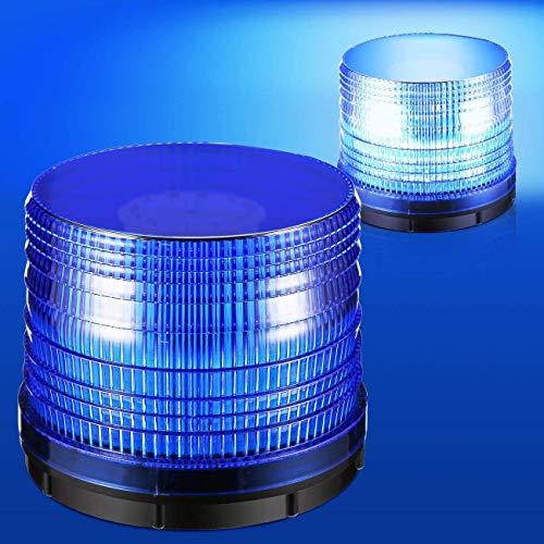 72 LED Blau Rundumleuchte Warnleuchte Blinkleuchte Warnlicht Alarm Licht, Mit Magnetfuß, Zigarettenanzunderstecker 12V / 24V