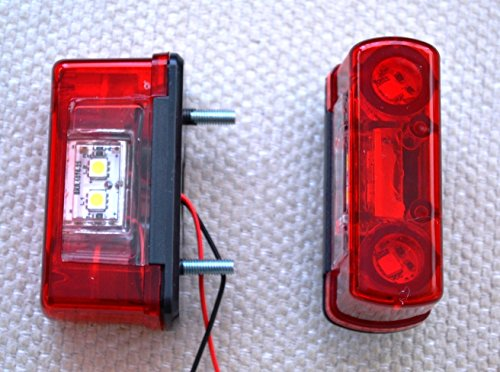 2x 24V LED trasera Número Plato luces lámpara para Trailer Truck Chassis Front Caravan Camiones
