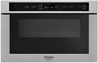 HOTPOINT MH 400 IX - Micro-ondes combiné encastrable inox anti-trace - 22L - 750 W - Grill 700 W