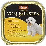 Animonda Vom Feinsten Junior, Nassfutter für junge Hunde im ersten Jahr, mit Rind + Geflügel, 22 x 150 g
