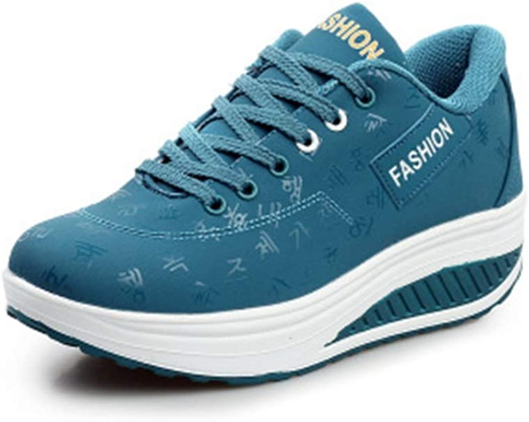JOYBI Women Casual Wedges Sneakers Comfort Lace-Up Slip On Spring Waterproof Fashion Platform Walking Shoes